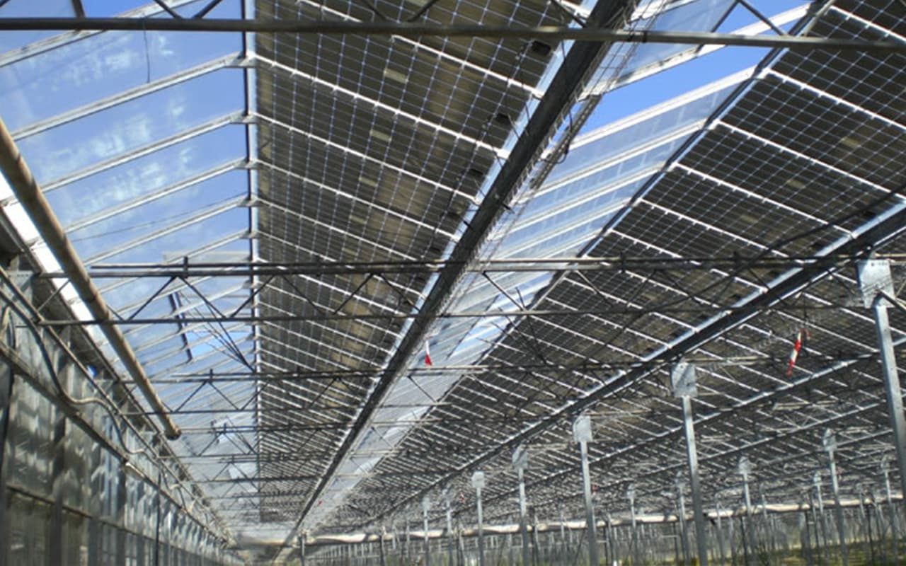 2.5 MW from photovoltaics produced on green houses in Montélimar 1