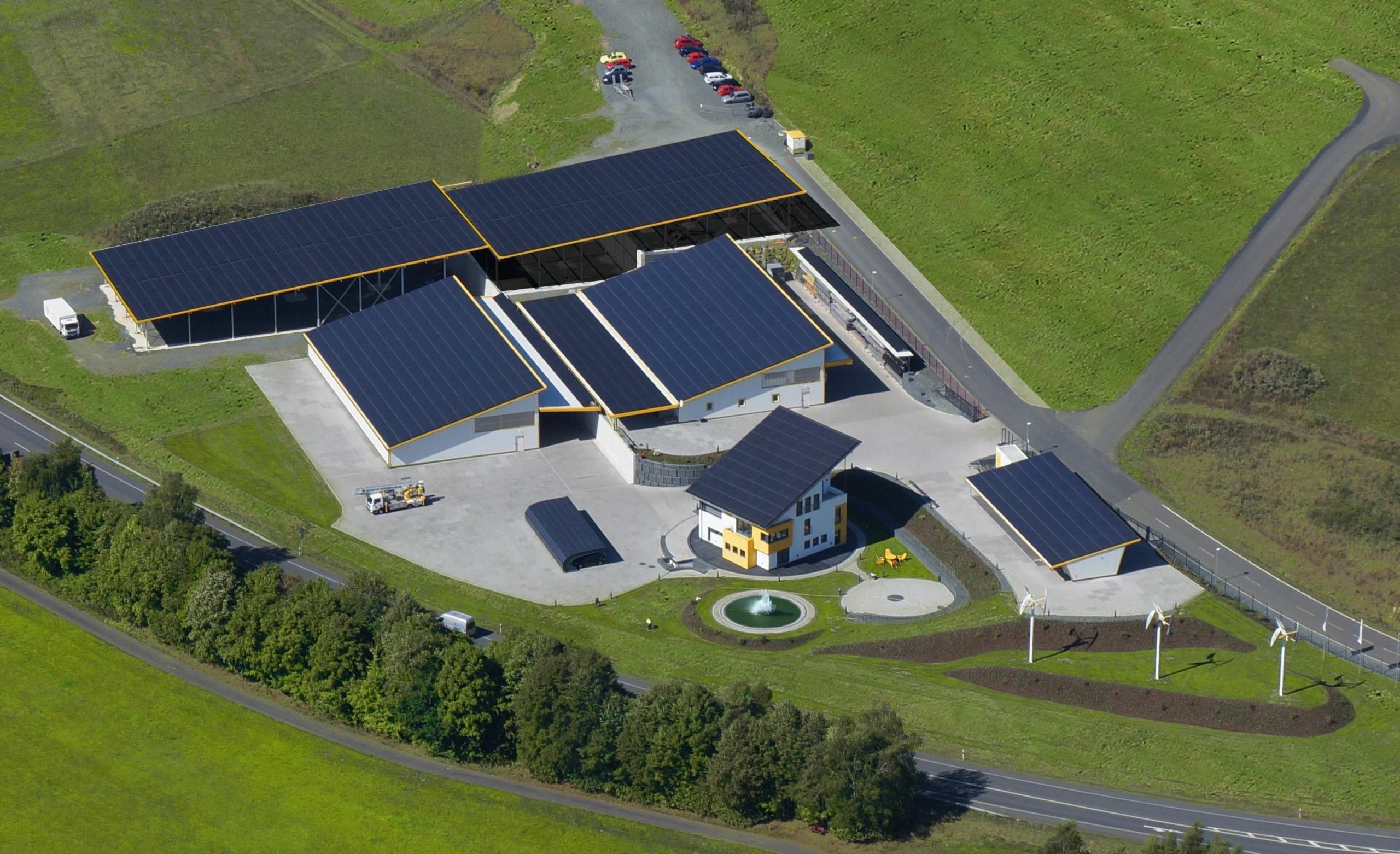Luftaufnahme Solarzentrum-Mittelhessen
